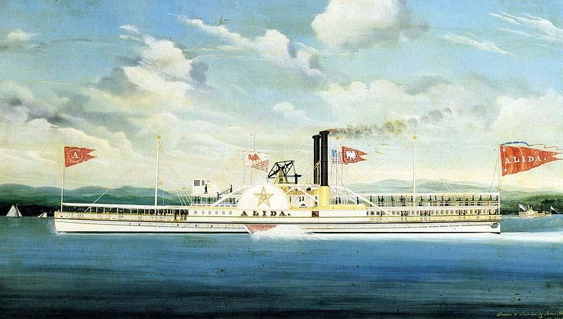 James Bard Alida, Hudson River steamer as painted
