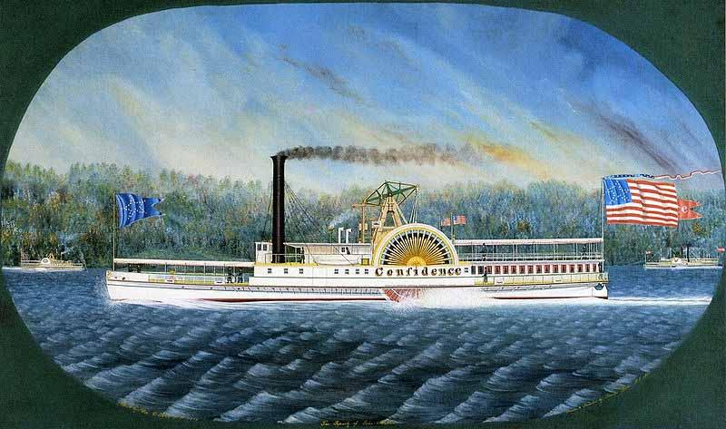 James Bard Confidence, Hudson River steamboat built 1849, later transferred to California