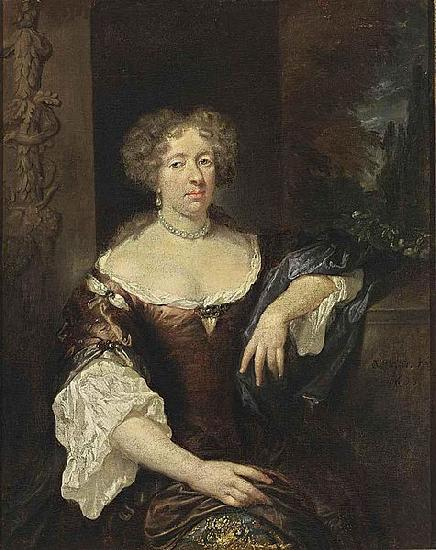 caspar netscher Portrait of a Lady