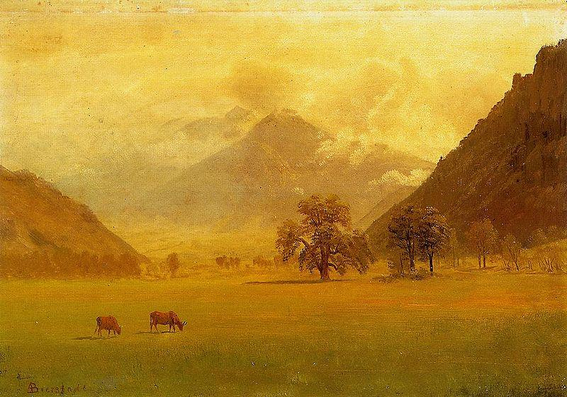 Albert Bierstadt Rhone Valley