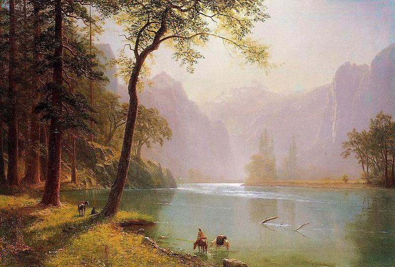 Albert Bierstadt The Kern River Valley, a montane canyon in the Sierra Nevada, California