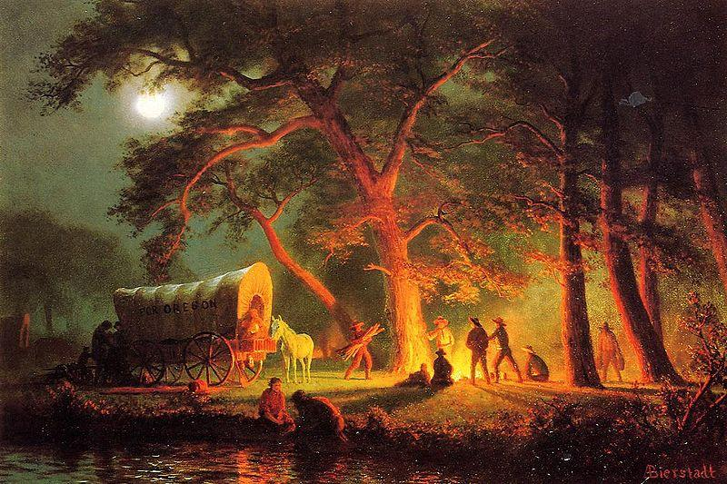 Albert Bierstadt Oregon Trail (Campfire)