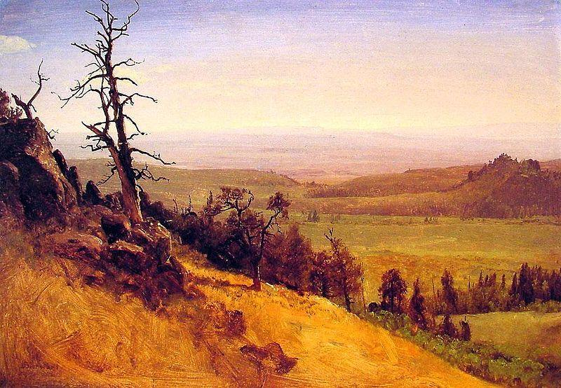Albert Bierstadt Wasatch Mountains and Great Plains in distance, Nebraska
