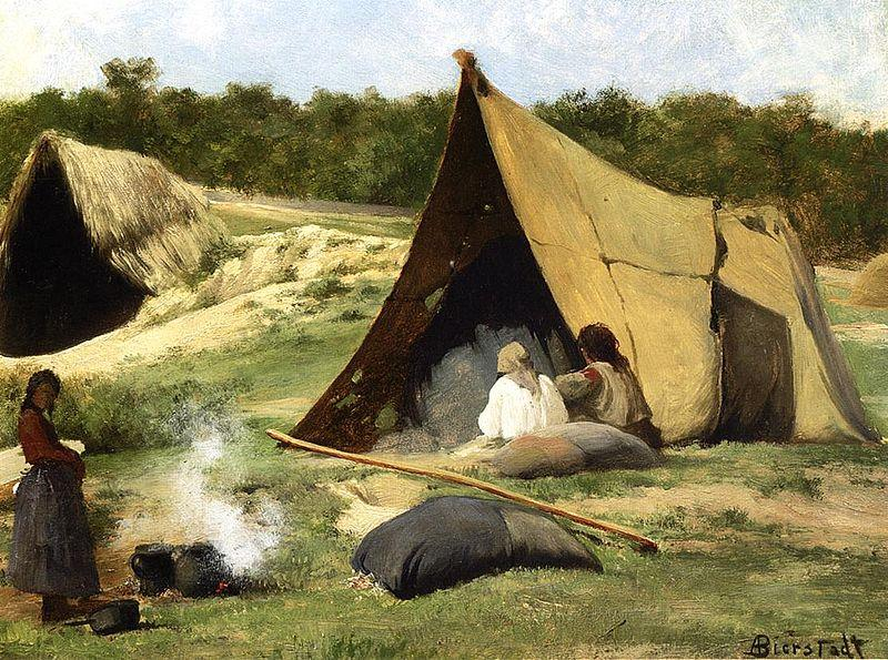 Albert Bierstadt Indian_Camp