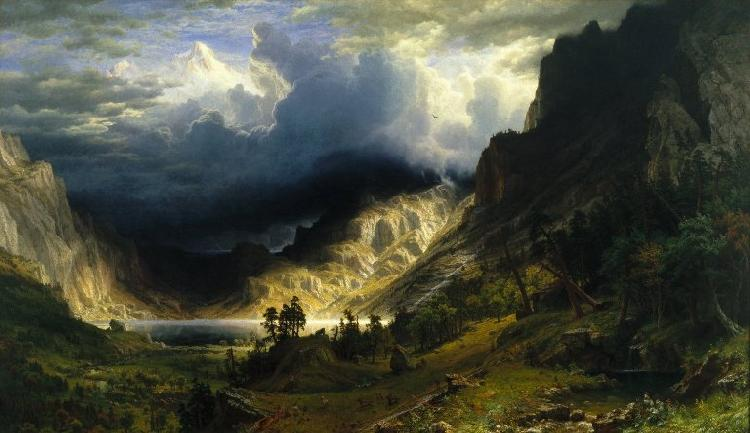 Albert Bierstadt Storm in the Rocky Mountains, Mount Rosalie