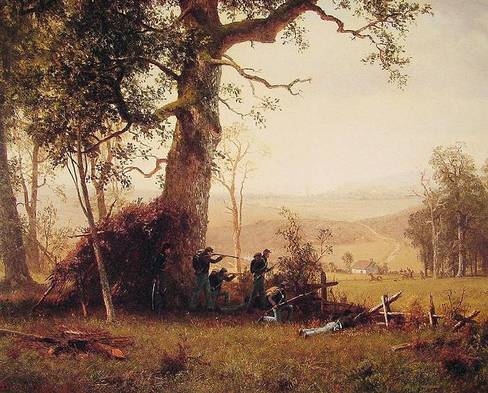 Albert Bierstadt Guerrilla_Warfare (Picket Duty In Virginia)