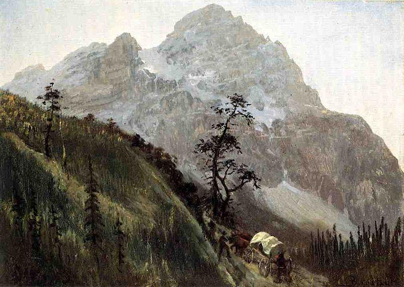Albert Bierstadt Western_Trail_the_Rockies