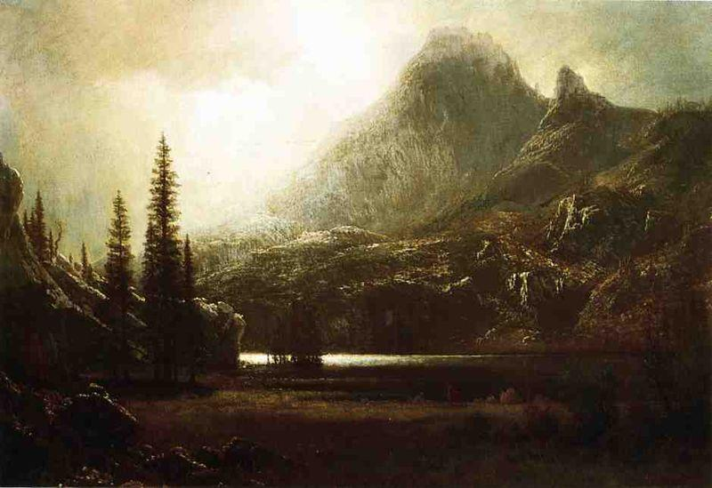 Albert Bierstadt By_a_Mountain_Lake