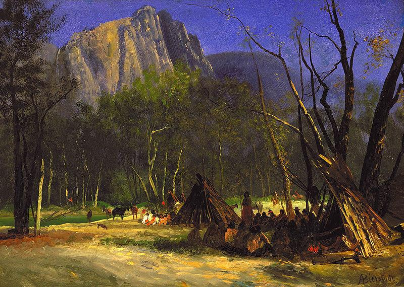 Albert Bierstadt Indians in Council, California