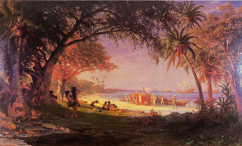 Albert Bierstadt The Landing of Columbus
