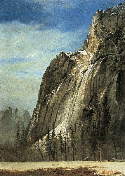 Albert Bierstadt Cathedral Rocks, A Yosemite View