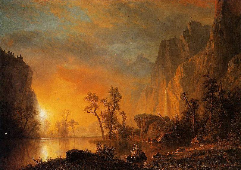 Albert Bierstadt Sunset in the Rockies