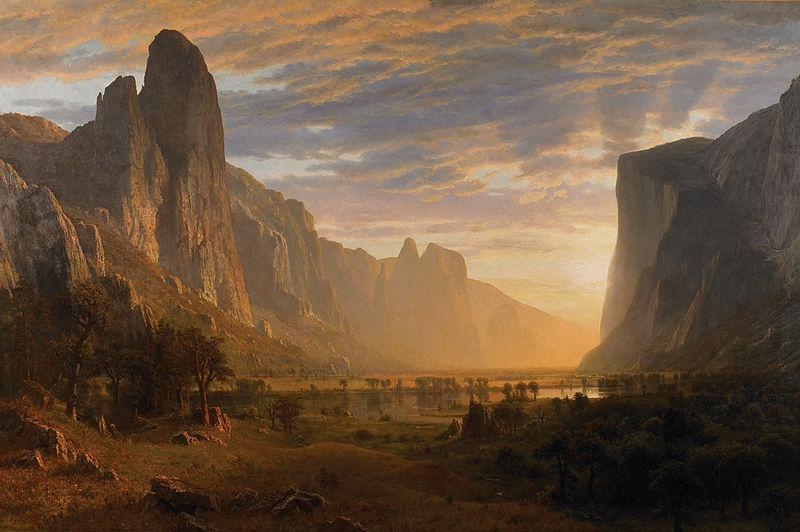 Albert Bierstadt Looking Down Yosemite Valley, California
