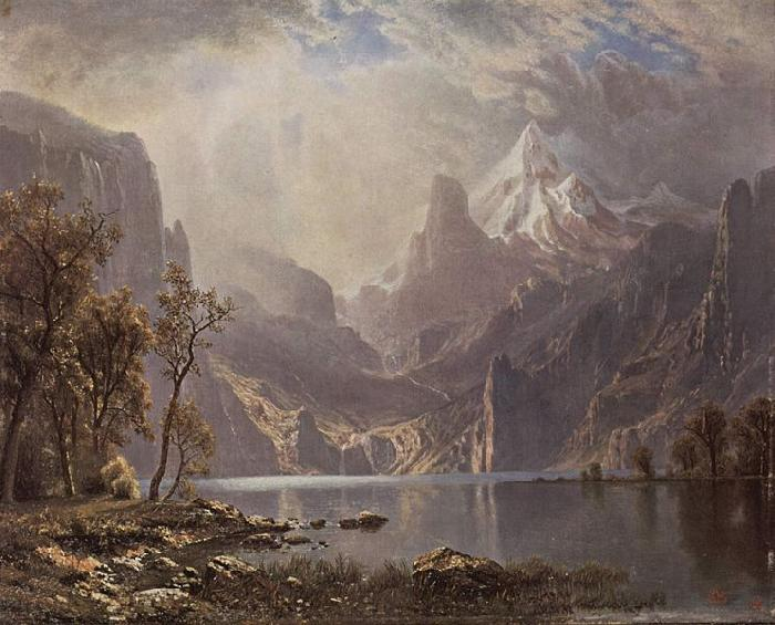 Albert Bierstadt In the Sierras