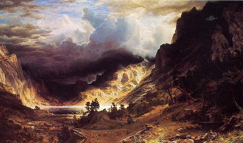 Albert Bierstadt A Storm in the Rocky Mountains, Mr. Rosalie