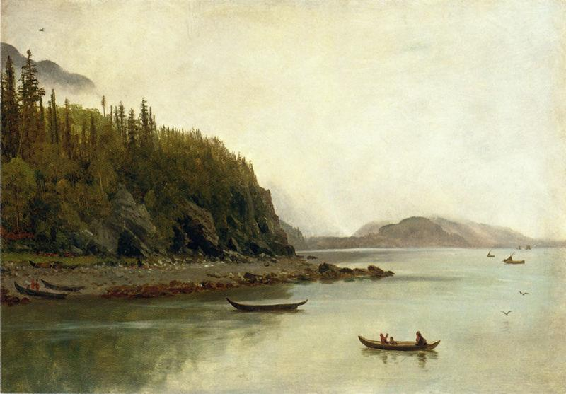 Albert Bierstadt Indians Fishing