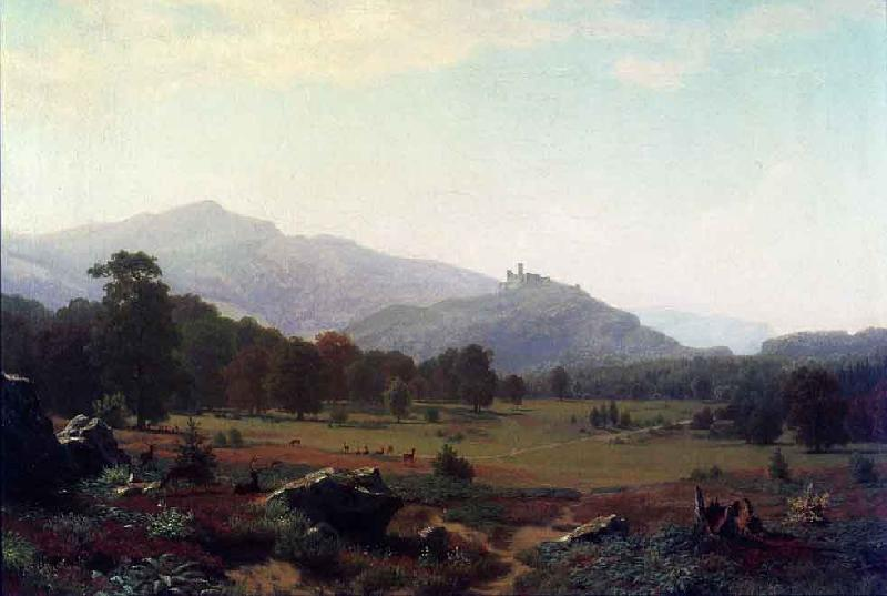 Albert Bierstadt Autumn in the Conway Meadows looking towards Mount Washington