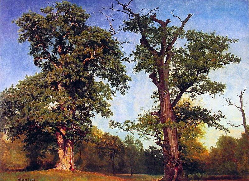 Albert Bierstadt Pioneers_of_the_Woods