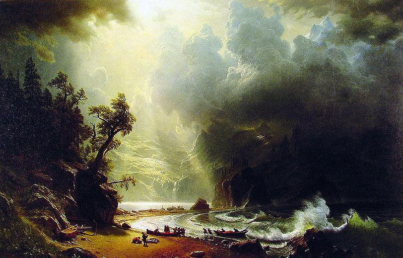 Albert Bierstadt Puget Sound, Pacific Coast
