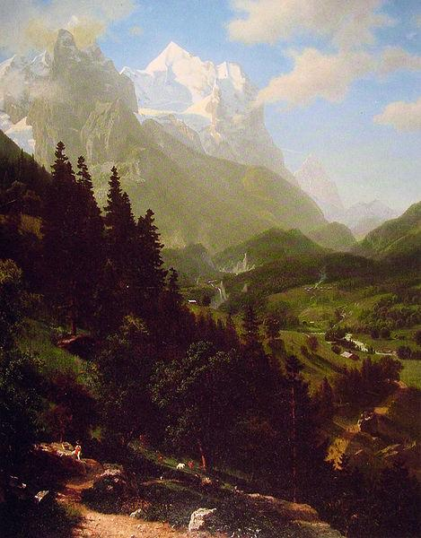 Albert Bierstadt The  Wetterhorn