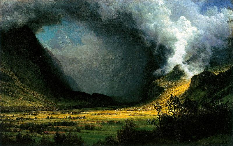 Albert Bierstadt Storm in the Mountains