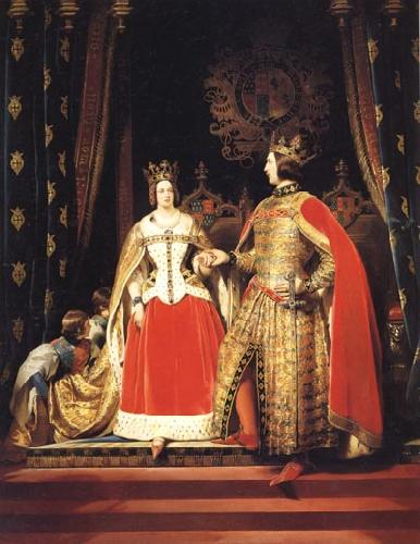 Sir Edwin Landseer Queen Victoria and Prince Albert at the Bal Costume of 12 may 1842