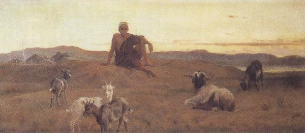 Frederick goodall,R.A. The Young Arab Outpost (mk37)