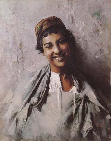 Georges Gaste Jeune fille souriant (mk32)