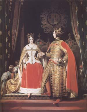 Sir Edwin Landseer Queen Victoria and Prince Albert at the Bal Costume of 12 May 1842 (mk25)